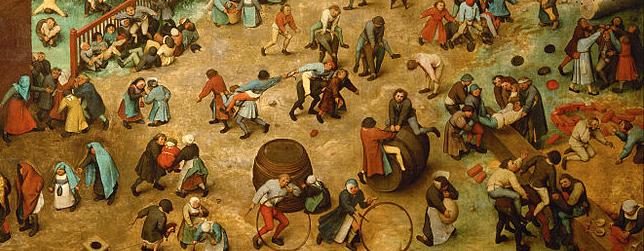 Bruegel Childern's Games detailed stripe
