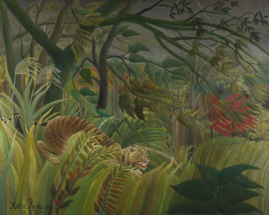 Tiger in a Tropical Storm (or Surprised!), Henri Rousseau, National Gallery, London