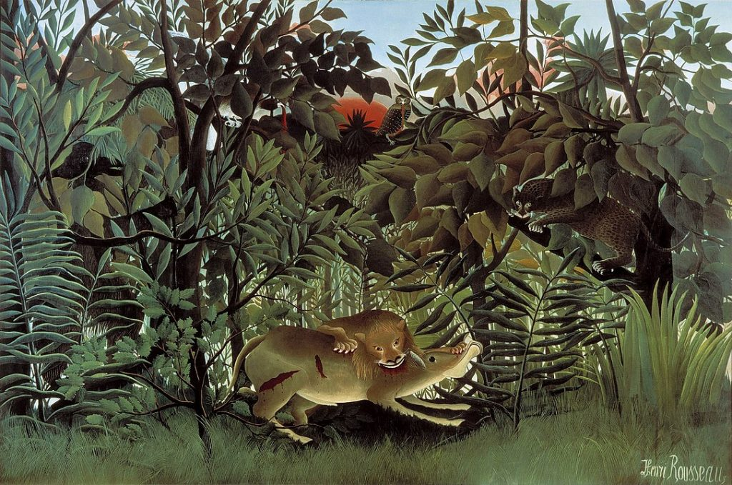 The Hungry Lion Throws Itself on the Antelope, Henri Rousseau, Fondation Beyeler, Riehen, Basel, Switzerland