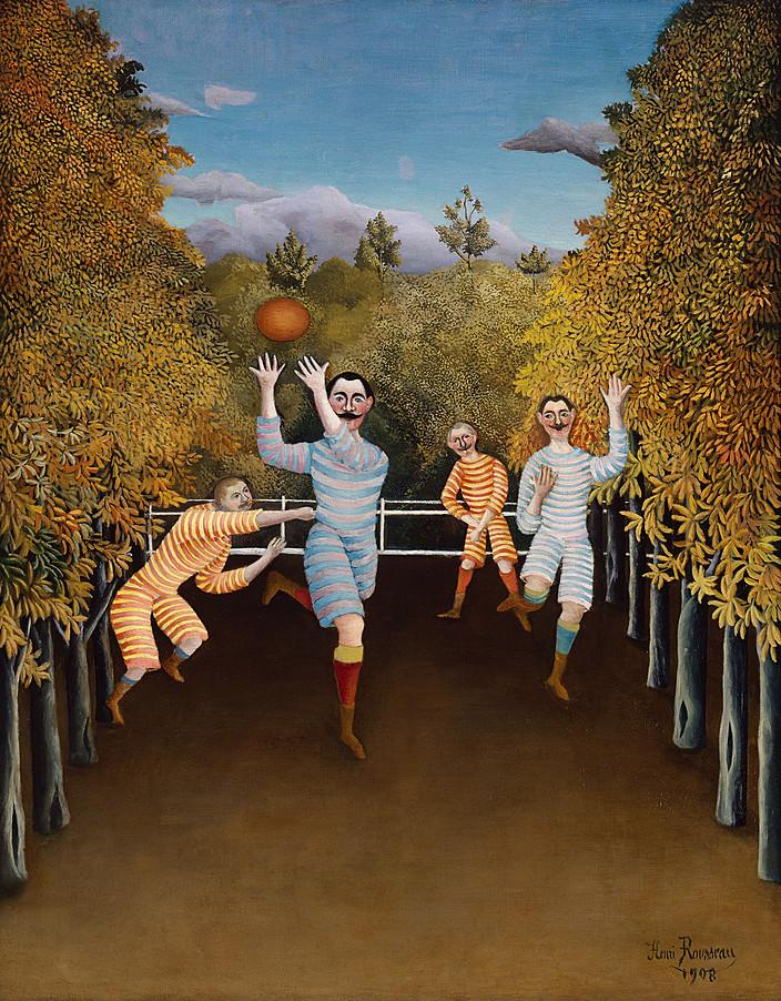 Henri Rousseau - The Football Players, Solomon R. Guggenheim Museum