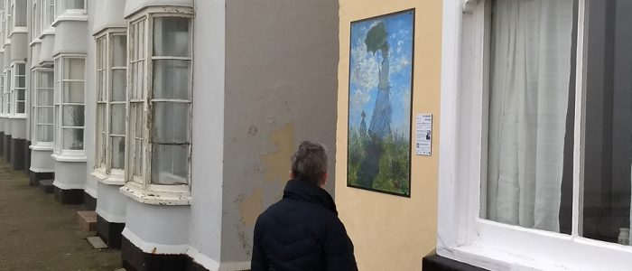 Claude Monet's Woman with a Parasol is on display at Western House, Westcliff (seafront side), in Cromer