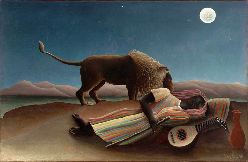 The Sleeping Gypsy, Henri Rousseau, Museum of Modern Art, NY