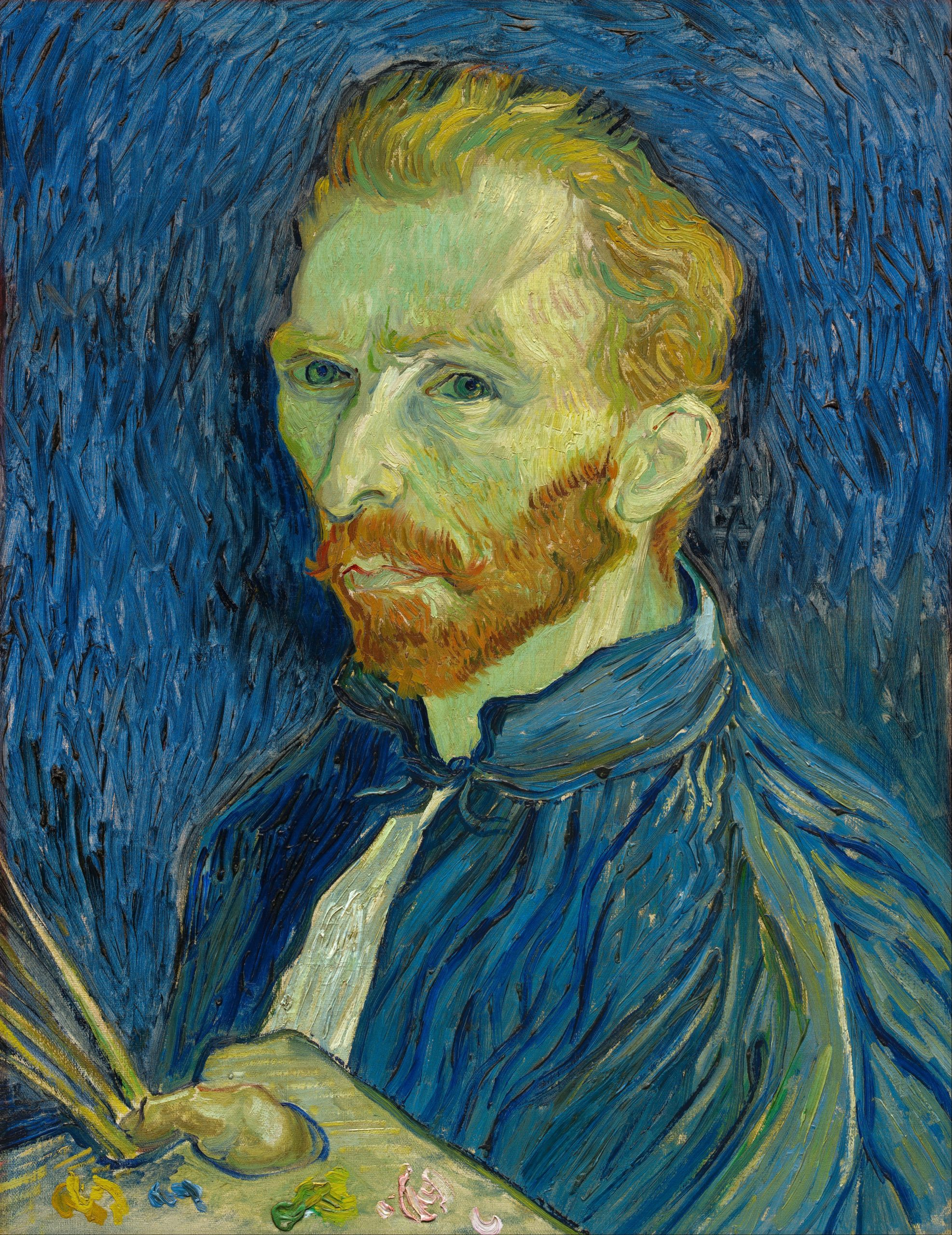 Vincent van Gogh - Self-Portrait, 1889. National Gallery of Art, Washington