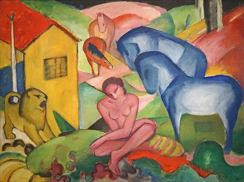 Le Rêve Oeuvre de Franz Marc (1880-1916) 1912 Huile sur toile Museo Nacional Thyssen-Bornemisza, Madrid