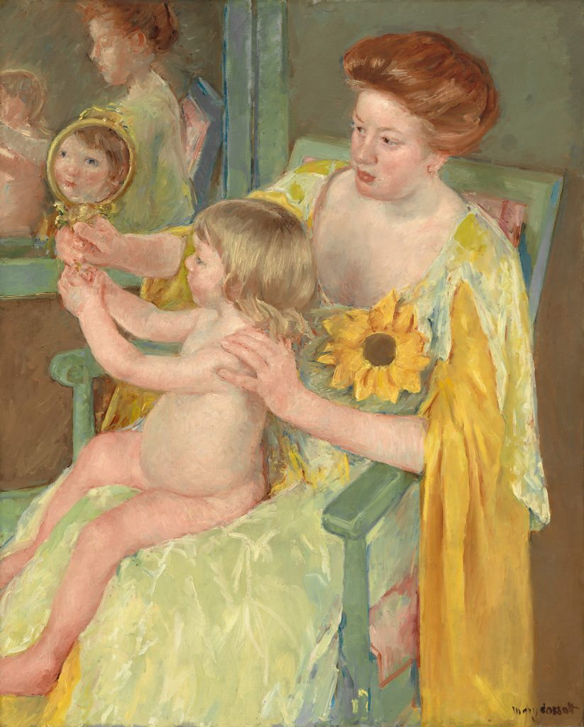 Woman with a sunflower