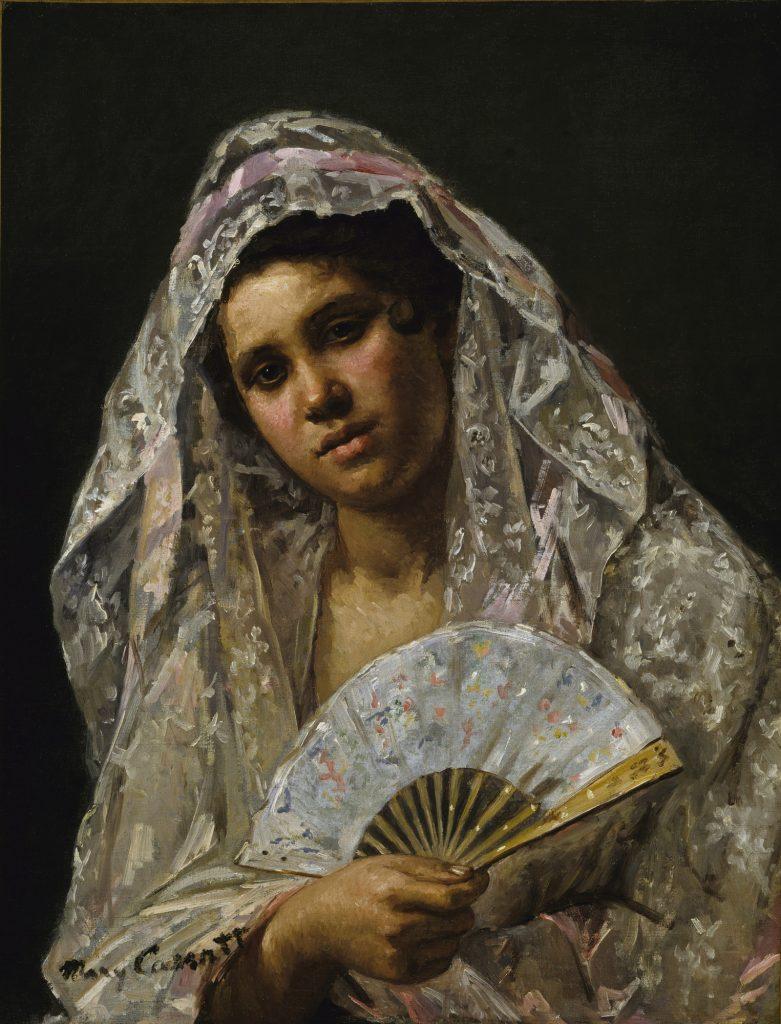 Spanish Dancer Wearing a Lace Mantilla